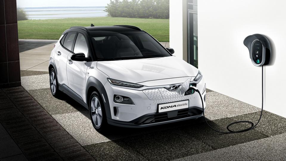 Het oplaadsysteem van de Hyundai KONA Electric.